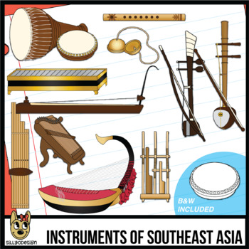 Musical Instruments of Southeast Asia Clip Art