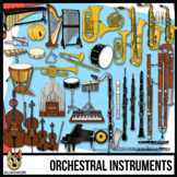 Musical Instruments of the Orchestra Clip Art Bundle