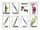 Musical Instruments of the Orchestra Playing Cards
