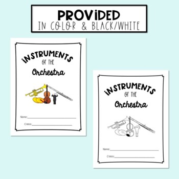 Musical Instruments of the Orchestra - Student Packet/Worksheets