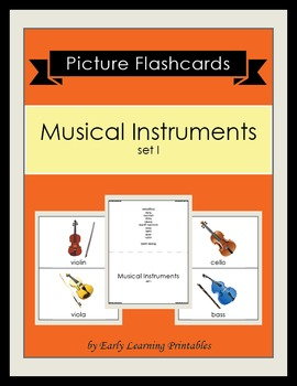 Musical Instruments (set I) Picture Flashcards