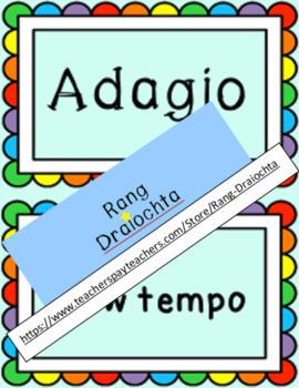 Musical Italian Terms Bulletin Board Set