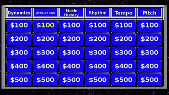 Musical Jeopardy 1 -- READY TO GO SLIDESHOW