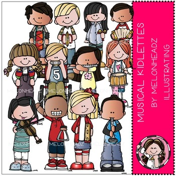 Musical Kidlettes clip art - COMBO PACK- by Melonheadz