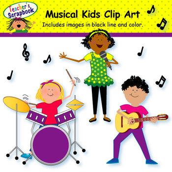 Musical Kids Clip Art