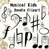 Musical Kids Doodle Clipart