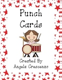 Musical Kids Themed Punch Cards