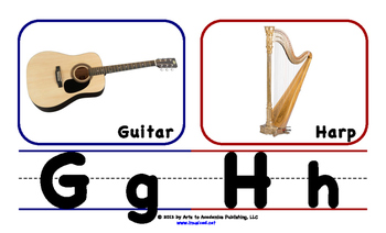 Musical Letter Recognition Posters (Medium)