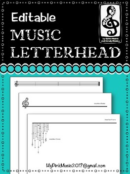 Musical Letterhead- GREAT for any performing group (3 designs)