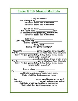 Musical Mad Libs