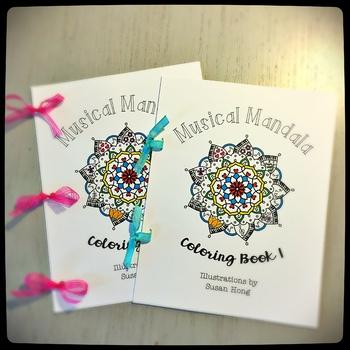 Musical Mandala Coloring Book 1:  New Release
