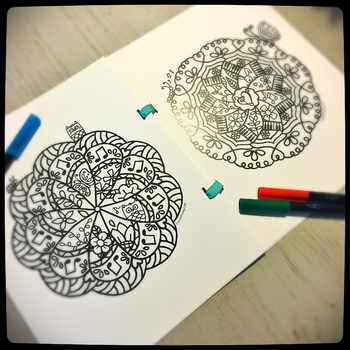 Musical Mandala Coloring Book 1