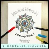Musical Mandala Coloring Book 1