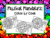 Musical Mandala's; Color By Code - PDF Edition