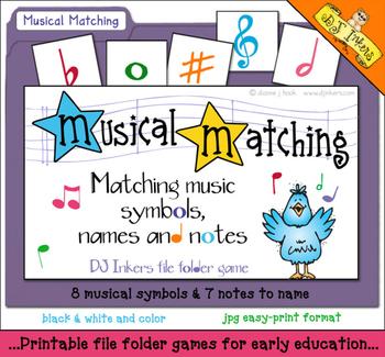 Musical Matching Folder Game Download
