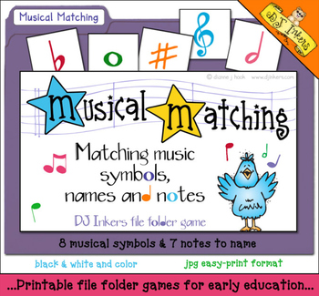 image relating to Printable File Folder Games named Musical Matching Folder Recreation Obtain