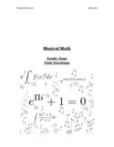 Musical Math: Grade Four Fractions Unit