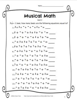 Musical Math Level 2