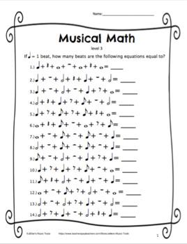 Musical Math Level 3