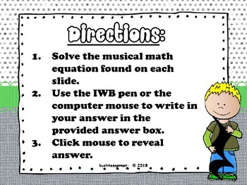 Musical Math Mania Equations: Level 2 - PPT Edition