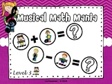 Musical Math Mania Equations: Level 3 - PPT Edition