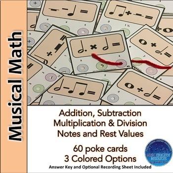 Musical Math Poke Cards
