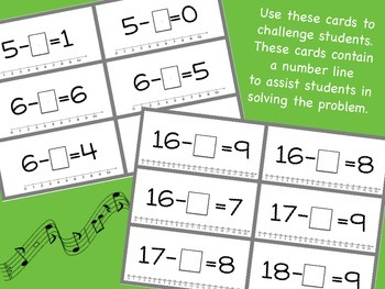 Subtraction Musical Math: A math movement game for the whole class!