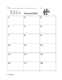 Musical Math Subtraction Game