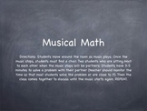 Musical Math (Subtraction Practice)