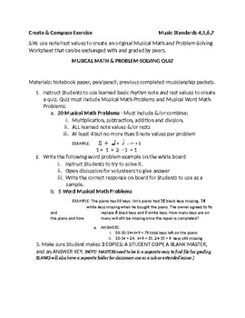 Musical Math in-a Word & Symbol