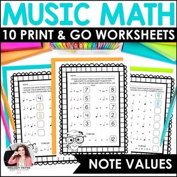 Music Math is a Hoot! {10 Cross-Curricular Music Math Worksheets}