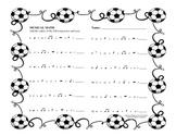 Musical Math worksheet - soccer theme