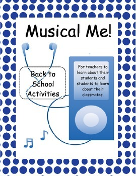 Musical Me: Back to School Activities for the Music Room