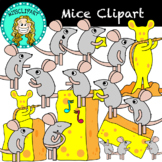 Musical Mice and Cheese Clipart (Color and B&W){MissClipArt}
