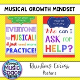 Musical Mind Changers - Growth Mindset for the Music Classroom Rainbow Theme