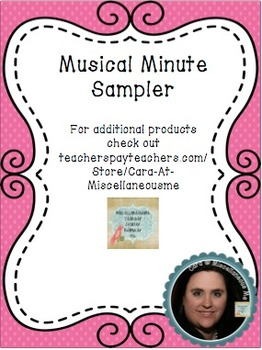 Musical Minute Sampler (Freebie)
