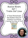 Musical Minute Set 1: Treble Clef Lines