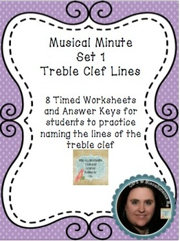 Musical Minute Set 1: Treble Clef Lines