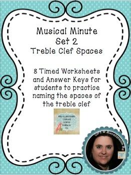 Musical Minute Set 2: Treble Clef Spaces