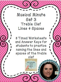 Musical Minute Set 3: Treble Clef Lines & Spaces
