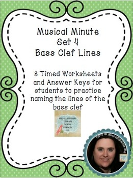 Musical Minute Set 4: Bass Clef Lines