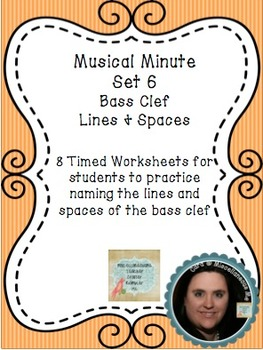 Musical Minute Set 6: Bass Clef Lines & Spaces