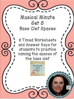 Musical Minute Set 5: Bass Clef Spaces