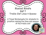 Musical Minute Set 7: Treble Clef Lines & Spaces