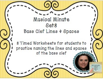 Musical Minute Set 8: Bass Clef Lines & Spaces