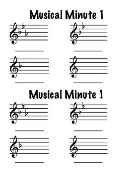 Musical Minute Set 10: Key Signatures with Flats