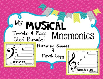 Musical Mnemonic: Treble and Bass Clef Bundle {Make Your Own!}