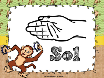 Musical Monkey Curwen Hand Signs Visuals/Posters - for Elem. Music Classroom