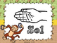 Musical Monkey Curwen Hand Signs Visuals/Posters - for Ele