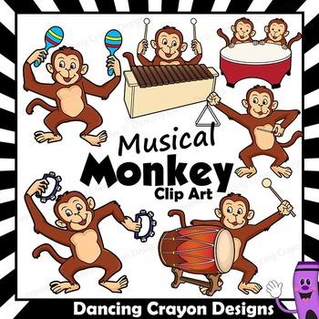 Musical Monkeys Clip Art